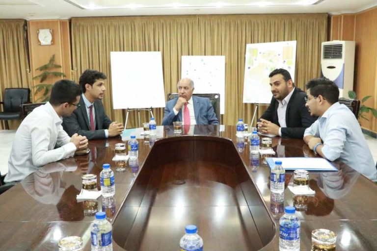 Water Activists in a Private Meeting with Dr. Hassan Al-Janabi, Minister of Water Resources