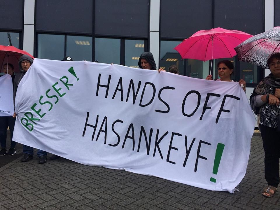 Protest against Bresser at its Dutch headquarters: Withdraw from relocation of Hasankeyf monuments