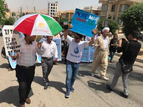 After Cutting of Water Flows, Iraqis Turn to Protest against Iranian Dams