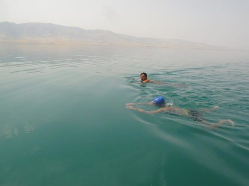 Swimming Expedition calls for Protection of Lake Dukan