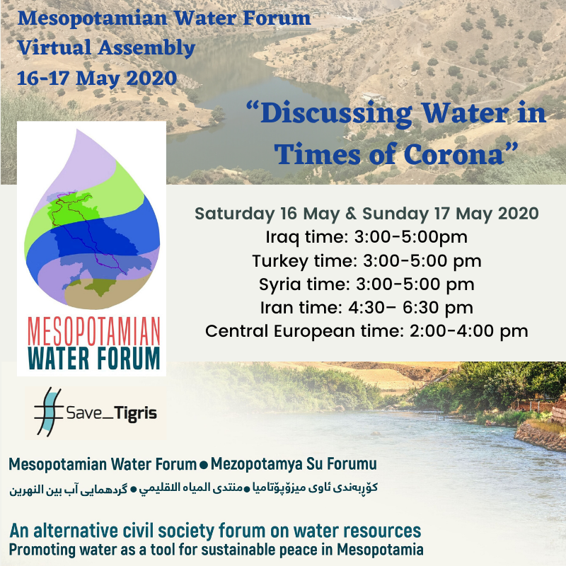 Countdown to Mesopotamian Water Forum Virtual Assembly: Local Assembly of Kurdistan Region of Iraq